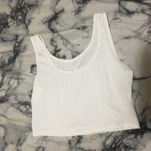 White cami crop top